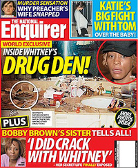 ... EXCESSIVE crack use to the NATIONAL ENQUIRER . The highlights